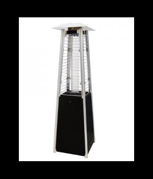 Pyramidal heating parasol